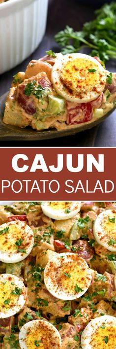 This Cajun Potato Salad is flavor-packed and delicious! The best twist on a classic summer salad....with a kick!