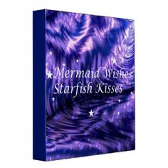 Mermaid Wishes, Starfish Kisses 3 Ring Binder Summer Tunes, Moon Fairy, Fairy Queen, Butterfly Fairy, Blue Fairy, Mermaid Art, Ring Binder, Blue Glitter, Starfish