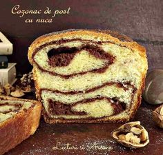 Cozonac de post cu nuca - Lecturi si Arome Vegan Recepies, Raw Vegan Recipes, Vegan Food, Soul Food, French Toast, Recipies, Deserts, Xmas, Sweets