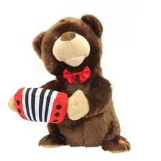Cheap toy gift, Buy Quality toy metal directly from China gifts printing Suppliers: Animated Play Accordion Bear Musical Sing And Dance Mouth Moves Electrical Soft Plush Stuffed Toys Christmas Gift