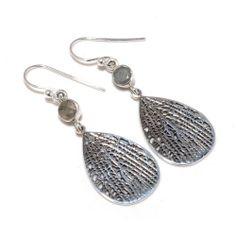 925 Sterling Silver Earrings Labradorite Gemstone Designer Handmade Jewelry | eBay