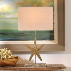 Driftwood Starfish Table Lamp   Kirklands