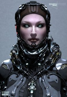 Cyberpunk, Future, Cyborg Girl, Implant, Helmet, Futuristic Girl, Pilot, Military, Futuristic, Armor, Contact Lenses + Augmented Reality, Future Warrior, Futuristic Costume, Cyber Girl, Science Fiction