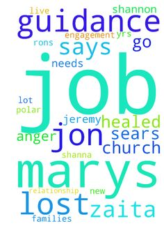 please pray for jon lost job again will - please pray for jon lost job again will need new place to live. has possible bi polar like dad.Gods guidance in Rons an d marys engagement. he sears a lot has anger, he says he accepted jesus yrs ago. so he has desire to go to church. Jeremy and joes relationship be healed. all my families needs be met. guidance in marys job. Shannon and shanna know jesus. zaita has anxiety. thank u Posted at: https://prayerrequest.com/t/sGr #pray #prayer #request…