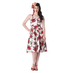 Hell Bunny Kleid CANNES 50'S DRESS white