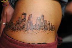City of Mpls tattoo Minneapolis Skyline, Minneapolis Minnesota, Tattoo Design Drawings, Tattoo Designs, Tattoo Ideas, Chicago Skyline Tattoo, Piercing Tattoo, Piercings, Tattoo