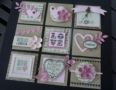 Scrapbook Paper Crafts, Scrapbook Cards, Diy Crafts For Girls, Handmade Tags, Candy Cards, Paper Tags, Scrapbook Embellishments, Homemade Cards, Diy Gifts