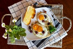 Eggs Fried In Olive Oil With Black Olives