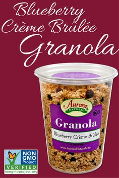 Blueberry Creme Brulee Granola is now verified by the @nongmoproject    http://www.auroraproduct.com/product/blueberry-creme-brule/