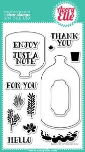 Avery Elle Clear Stamps BOTTLE IT UP Set ST-14-01 or 021259