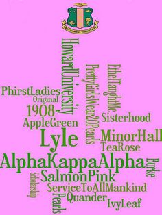 Alpha Kappa Alpha Sorority, Inc. All of these things are dear to me!