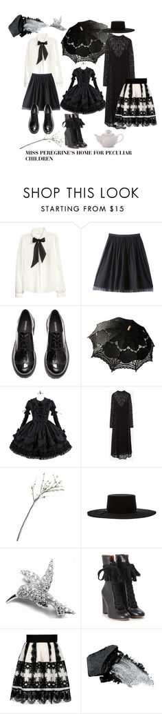 """Miss Peregrine's Home for Peculiar Children"" by angelagail423 ❤ liked on Polyvore featuring H&M, Bebe, Zara, Crate and Barrel, Brixton, Tiffany & Co., Chloé, Alberta Ferretti and Gorgeous Cosmetics"