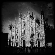 Milan in black - A general view of the Duomo of Milan on April 11, 2012 in Milan, Italy. (Photo by Vittorio Zunino Celotto/Getty Images)