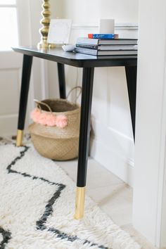 Photography : Ruth Eileen Photography | Design & Styling : SMP Living | Event Planning : West Elm | Event Planning : Amazon Read More on SMP: http://www.stylemepretty.com/living/2016/01/07/ikea-hack-diy-entry-table/