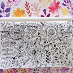#doodle #pattern#drawing #artist #artjournal #sketchbook #watercolor #painting #flowers
