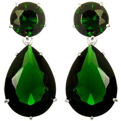 Angelina's Silver Red Carpet Inspired Emerald Green Earrings emerald green earrings