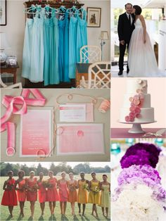 I lov the different shades of the same color for bridesmaids. - B / Little White Book: Love #Ombré
