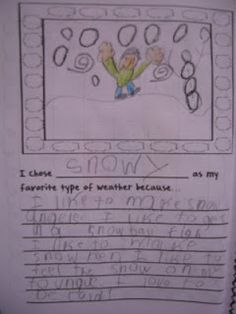Opinion writing  about weather common core for first, second