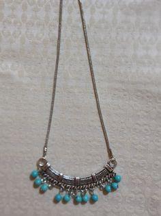 Bib style turquoise necklace by LoveandLifeCreations on Etsy