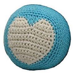 010812 Organic Cotton Crochet, Ball, Blue