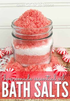 Diy Gifts To Make, Easy Diy Gifts, Spa Tag, Essential Oils Christmas, Bath Salts Recipe, Nails Polish, No Salt Recipes, Bath Recipes, Canning Recipes