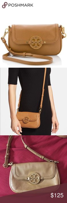 Tory Burch Amanda Crossbody bag/clutch Cute little bag, perfect for a night out or a small day bag for running errands. Crossbody strap is removable so it can be used as a clutch. Tory Burch Bags Crossbody Bags