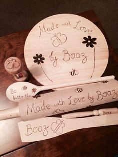 Personalised baking set wooden baking set including wooden spoon spatula rolling pin timer oiling brush customised kitchen gift chef by RockeryCottage Egg Timer, Oil Brush, Baking Set, Wooden Spoons, Craft Items, Rolling Pin, Beautiful Hands, Great Gifts, Cottage