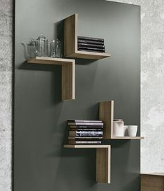 Interior design Contemporary Floating Shelves, Ensemble mural composable modulable Sistema Magnetika Collection Magnetika elementi by Ronda Design Interior Diy Furniture, Furniture Design, Furniture Projects, Furniture Stores, Corner Furniture, Homemade Furniture, Modular Furniture, Furniture Market, Furniture Movers