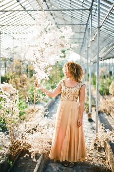 Soft Peach Vintage Gown.    Photographed by Nancy Neil