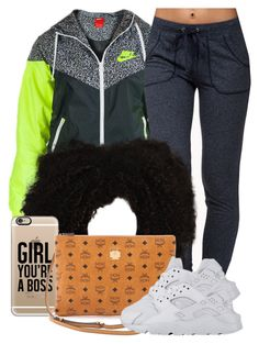 """""""10 12 15"""" by miizz-starburst ❤ liked on Polyvore featuring NIKE, Forever 21, Casetify and MCM"""