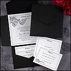 Black and White Wedding Ideas (Invitation Link - http://occasionsinprint.carlsoncraft.com/Weddings/Invitations/1080-WRN9685DA-Black-and-White-Pocket--Invitation.pro)