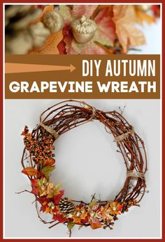 Youngsters Area Home Furnishings Diy Autumn Grapevine Wreath - This Is An Easy Fall Diy Cost Me Less Than 5 To Make Cheap Wreaths, Fall Wreaths, Diy Home Decor Projects, Fun Projects, Diy Wreath, Grapevine Wreath, Handmade Crafts, Diy Crafts, How To Make Paper Flowers