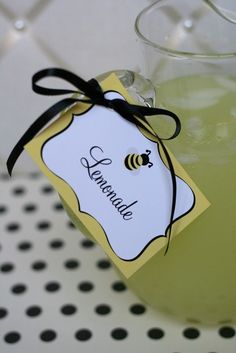 Bumble Bee Party Printable Food and Dessert Labels by tomkatstudio, $6.50