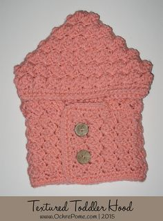 Ravelry: Textured Toddler Hood by Ochre Pome