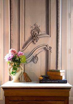 Trompe l'Oeil by Koziel, Art Deco vase and thrift shop books