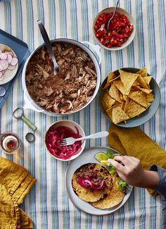 Get the recipe for Coca-Cola Carnitas. Slow Cooker Recipes, Gourmet Recipes, Mexican Food Recipes, Crockpot Recipes, Cooking Recipes, Healthy Recipes, Ethnic Recipes, Batch Cooking, Pork Recipes