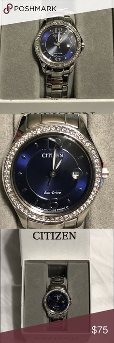 84f04cff41e Citizen Eco Drive Blue Face Women s Ladies Watch This watch does have a few  scuffs that