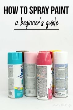 Everything you need to know to spray paint like a pro! All the tips, tricks, and hacks in one place! Even troubleshooting common spray paint problems! Spray Paint Tips, Spray Paint Projects, Spray Paint Furniture, Spray Paint Colors, Metallic Spray Paint, Diy Craft Projects, Painting Furniture, Spray Paint For Metal, Diy Furniture