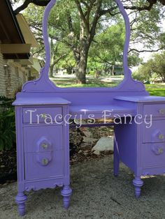 Wisteria Vintage Vanitiy MADE TO ORDER by TraceysFancy on Etsy, $850.00