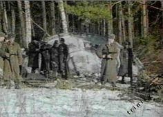 STRANGE/INTERESTING... Crashed UFO. Picture from secret kgb ufo files.
