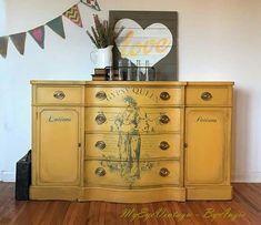 Cute Furniture, Furniture Fix, Backyard Furniture, Recycled Furniture, Furniture Projects, Furniture Makeover, Furniture Design, Vintage Buffet, Painted Buffet