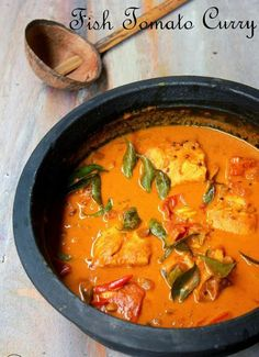Kerala Fish Curry With Tomato...