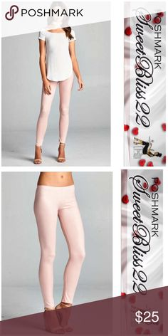 🌸You Are Blushing Matte Leggings🌸 Just in time for Spring! Leggings with a Matte finish! These are guaranteed to spice up your wardrobe! Comes in Mocha, Black,Blush and White! Comes in S,M,L ⭐️Small fits 2/4 ⭐️Medium fits 6/8 ⭐️Large fits 10/12 Pants Leggings