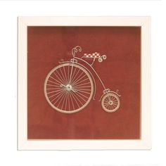 Bike wire art Framed wall art Wall wire art Unique by GaliConcept