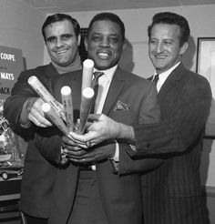 Joe Torre, Willie Mays and Bob Uecker.