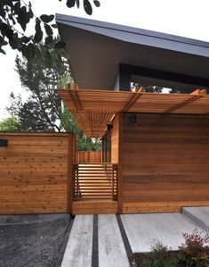 """""""Michelle Kaufmann's Latest Prefab Has Overhangs, Brise Soleil  Shutters    @ California , USA  The home produces its own energy through PV panels, and is designed with super efficient systems to reduce the amount of energy and water required."""