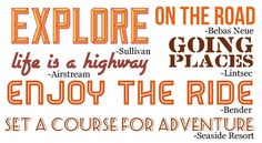 Scrapbooking Themes Quickstart: Road Trip Images, Sayings and Fonts