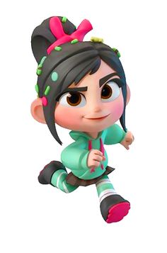 "Vanellope was the second main character in the movie ""Wreck-It Ralph"". Vanellope, short for Vanellope Von Schweetz, is a female Disney character who made her first appearance in Wreck-it Ralph. Disney Kunst, Disney Art, Disney Pixar, Walt Disney, Disney Style, Game Character, Character Concept, Character Design, Concept Art"