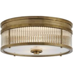 Allen Round Low Profile Flush Mount in Natural Brass - Ceiling Fixtures - Lighting - Products - Ralph Lauren Home - RalphLaurenHome.com