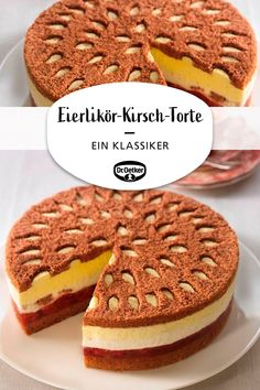 Eierlikör-Kirsch-Torte Eggnog Cherry Cake: Creamy cake with a delicious eggnog filling and sour cherries Baked Donut Recipes, Baking Recipes, Cookie Recipes, Dessert Recipes, Keto Donuts, Baked Donuts, Donuts Donuts, Funfetti Kuchen, Cherry Cake